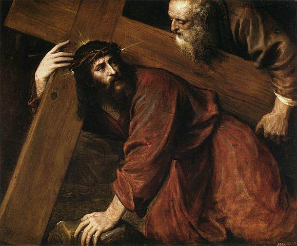 """Tycjan, """"Chrystus niosący krzyż"""" (ok. 1565 r.)"""