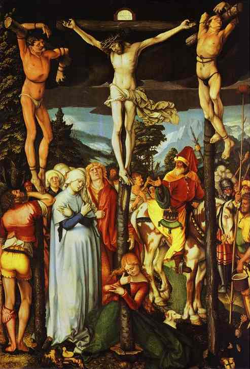 """Hans Baldung Grien, """"Ukrzyżowanie"""" (1512)"""