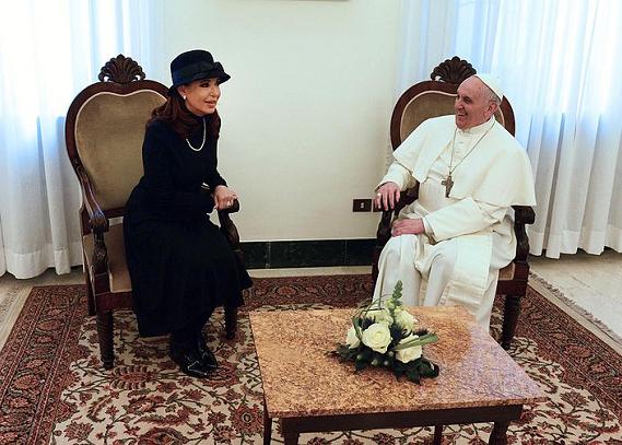 Papież Franciszek i Cristina Fernández de Kirchner