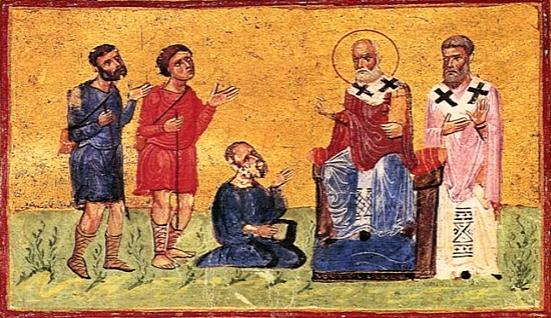 Święty Grzegorz Teolog z nędzarzami