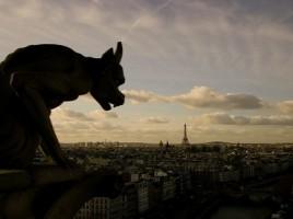 Paryż widziany z katedry Notre-Dame