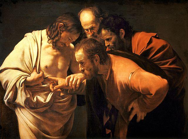 """""""Niewierny Tomasz"""" (Caravaggio, ok. 1601–1602)"""